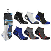 Mens ProHike Cushioned Sole Trainer Socks Two Tone
