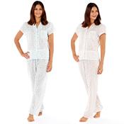 Lady Selena Ladies Floral Pyjama Set