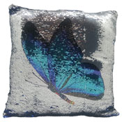 Butterfly Sequin Filled Cushion