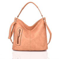 Nattie Side Zip Slouch Bag Tan