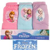 Girls Disney Frozen Briefs Pink, Blue & Lilac