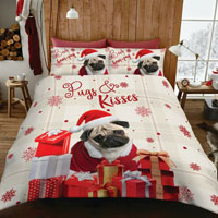 HumPug Christmas Duvet Set