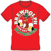 Christmas T-Shirt Red Brewdolph