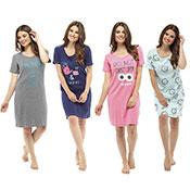 Ladies Slogan Nightdress Sleep Print
