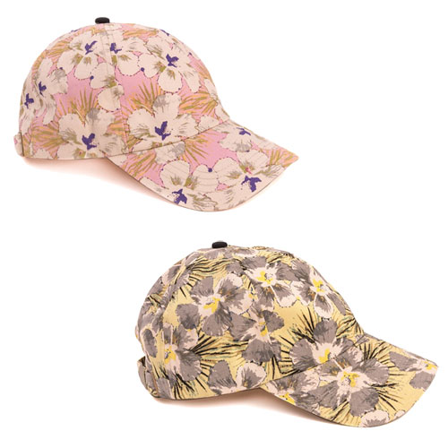 Ladies Flower Print Baseball Cap