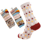Ladies Fancy Design Socks Stars