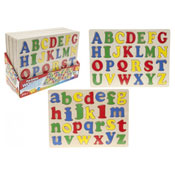 Wooden Pullout Alphabet Board