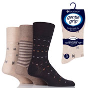Mens Gentle Grip Socks Assorted Design
