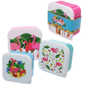 Stacking Lunch Boxes Flamingo Pinks
