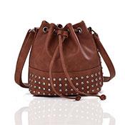 Brienne Stud Crossbody Bag Brown