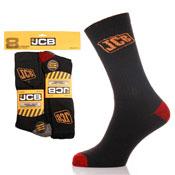 8 Pack Official JCB Work Socks