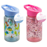 Kids Printed Bottle With Straw