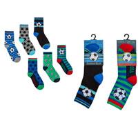 Boys Football Design Cotton Rich Socks