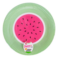 Watermelon Design Paper Plates 8 Pack