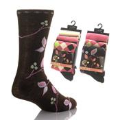Girls Flower Design Socks