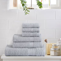6 Piece Luxury Towel Bale Set Silver