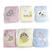 Baby Fleece Blanket with Embroidery