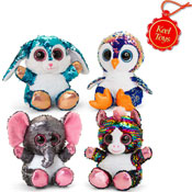 20cm Glitter Sequin Motsu Mix B Soft Toys