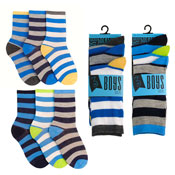 Boys Broad Stripes Design Socks