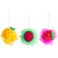 Bath Sponge Fruit Shaped Pouf