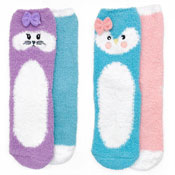Girls Thermal Penguin/Rabbit Design Slipper Socks