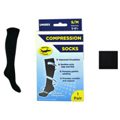 Unisex Compression Flight Socks Black