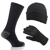 3 Pack Winter Hat Gloves & Socks Set