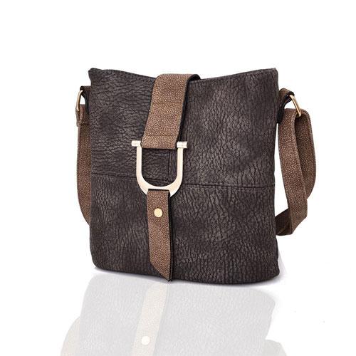 Ladies Audrey Bucket Crossbody Bag Brown