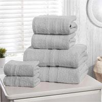 Natural Cotton Camden Bath Sheets Silver