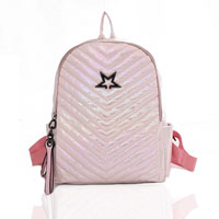 Star Shimmer Backpack Light Pink