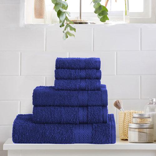 6 Piece Luxury Towel Bale Set Royal Blue