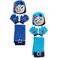 Official Thomas 3 Piece Knitted Hat Glove & Scarf Set
