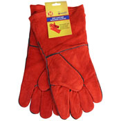 Red Leather Welders Gloves