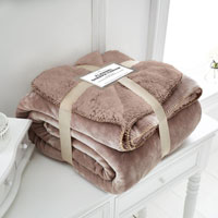 Mink Flannel Sherpa Throw