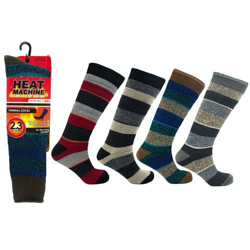 Heat Machine Thermal Socks Striped Long 2.3 Tog