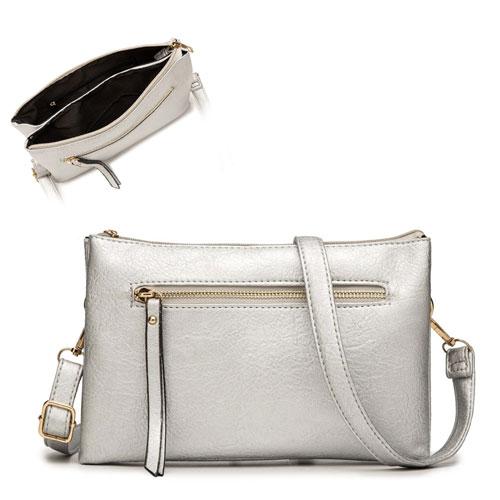 Ashley Cross Body Bag Silver