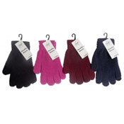 Ladies Chenille Gloves Assorted