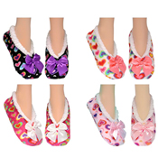 Cozees Ladies Sherpa Heart Slippers