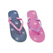Girls Flip Flops Star Print
