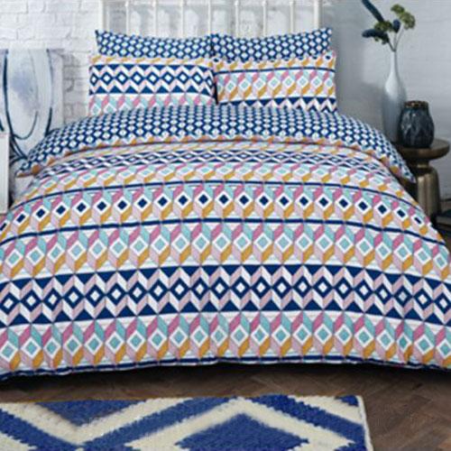 Geometric Stripe Brights Duvet Set