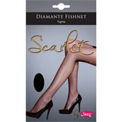 Diamante Black Fishnet Tights