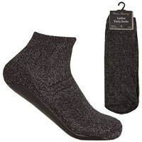 Ladies 1 Pair Party Socks With Gripper Sole