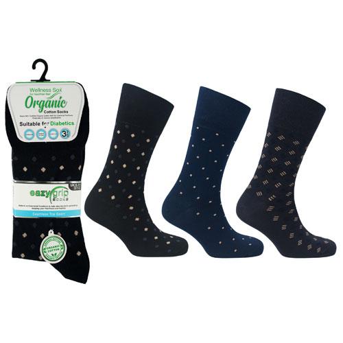 Mens Wellness Organic Cotton Socks Florida