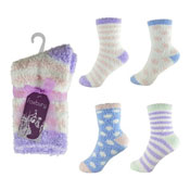 Ladies Snow Soft Socks With Bow