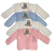 Teddy Bear Embroidered Baby Cardigan