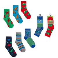 Boys Dinosaur Cotton Rich Socks
