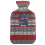 Hot Water Bottle With Fleece Cover Knitted Design
