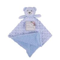 Baby Comforter Blue Teddy