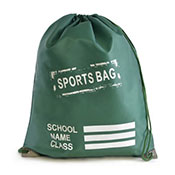 Sports Pump Bag Bottle Green