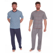 Mens Stripes Style Poly Cotton Lounge Set